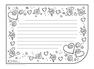 valentine writing paper kindergarten Like many holidays, valentine's day arose from a confluence of christian and pagan themes originally it was the occasion of a pagan roman rite called the lupercalia, on which young men and.