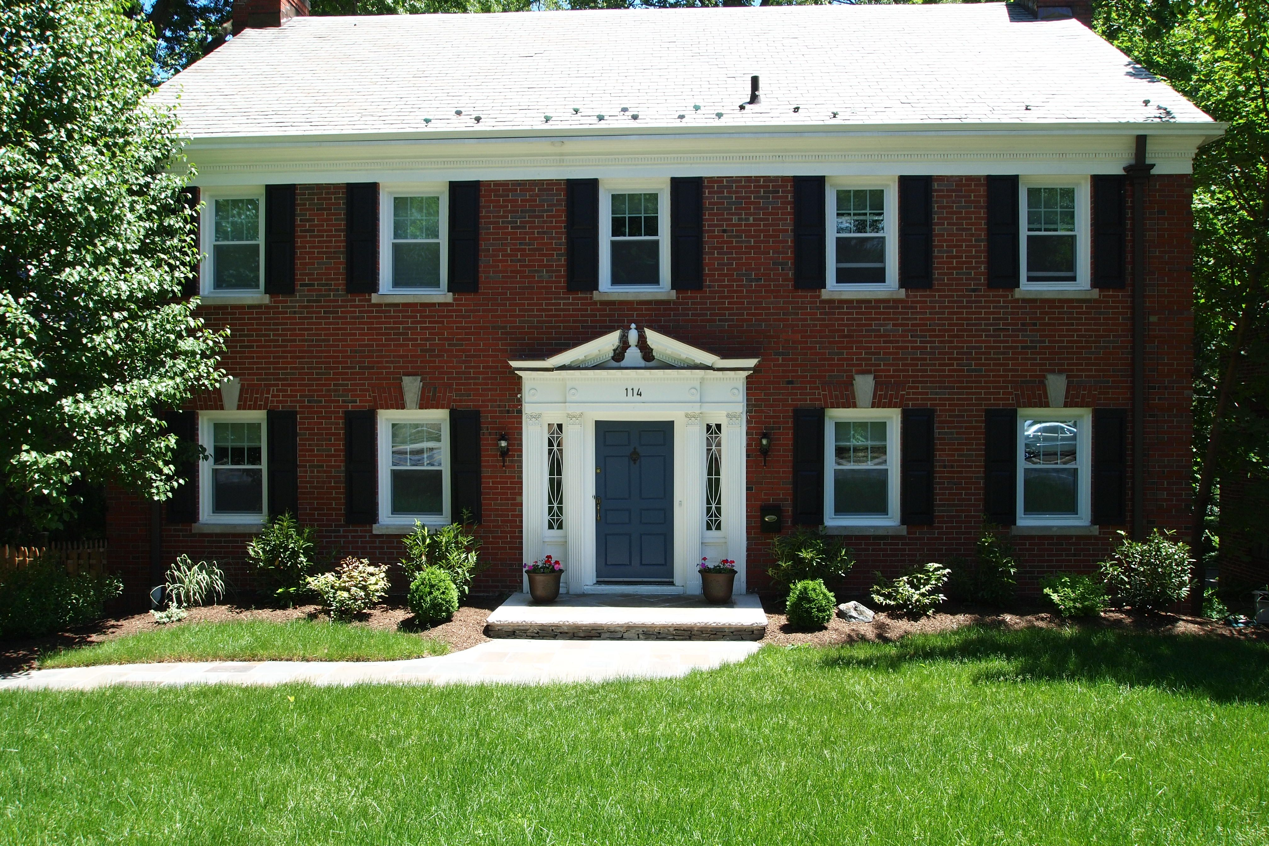 Door Colors For Red Brick Colonial All Brick Center Hall Colonial Front Door Colors For