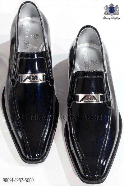 Zapato charol azul marino 98091-1982-5000 Ottavio Nuccio Gala.