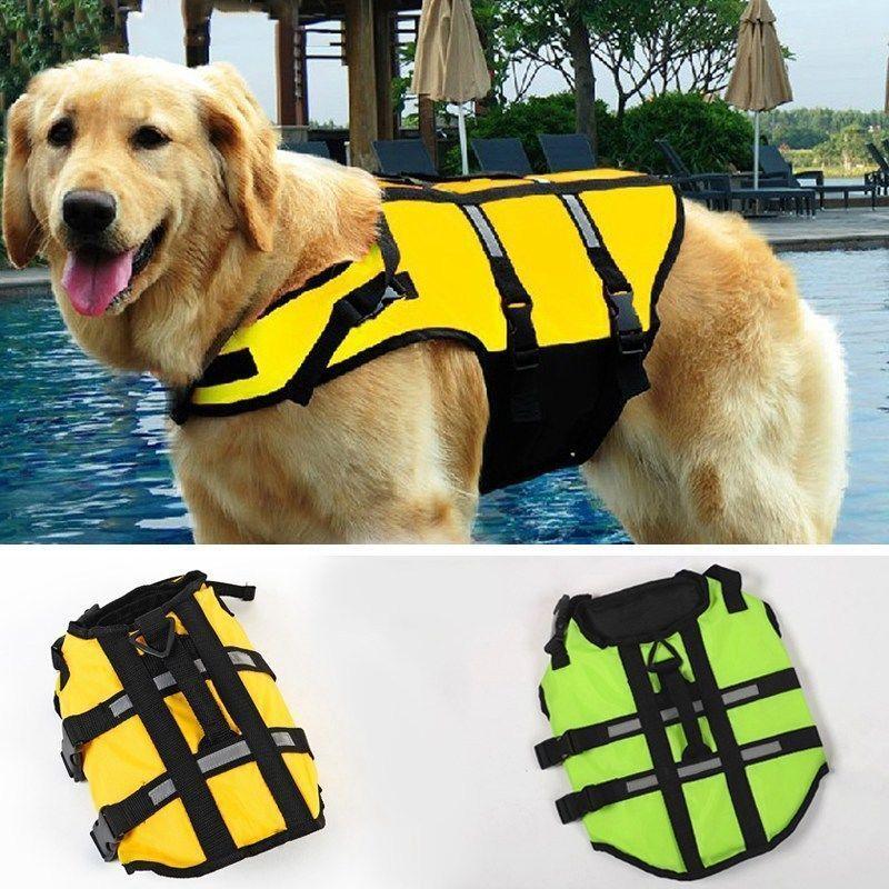 Pet Dog Reflective Swim Wear Safety Life Jacket Preserver Saver