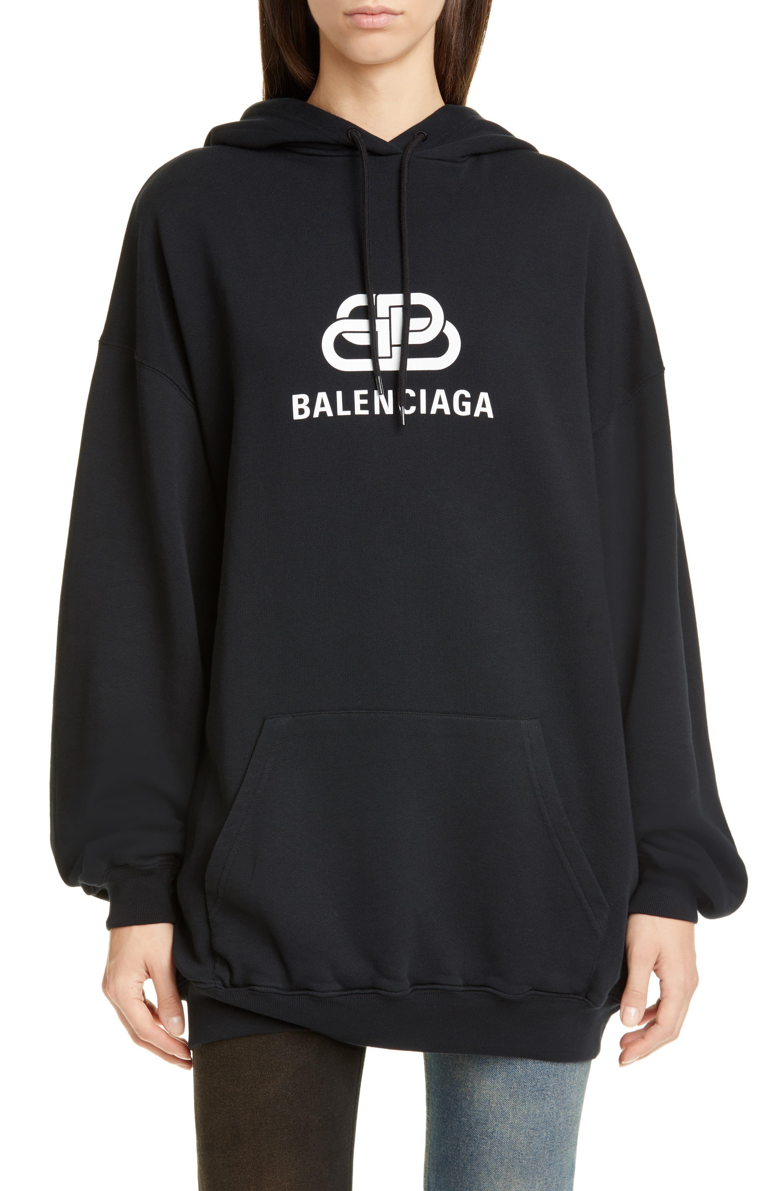 Balenciaga Bb Logo Oversize Hoodie Oversize Hoodie Hoodies Balenciaga Hoodie Women [ 4048 x 2640 Pixel ]