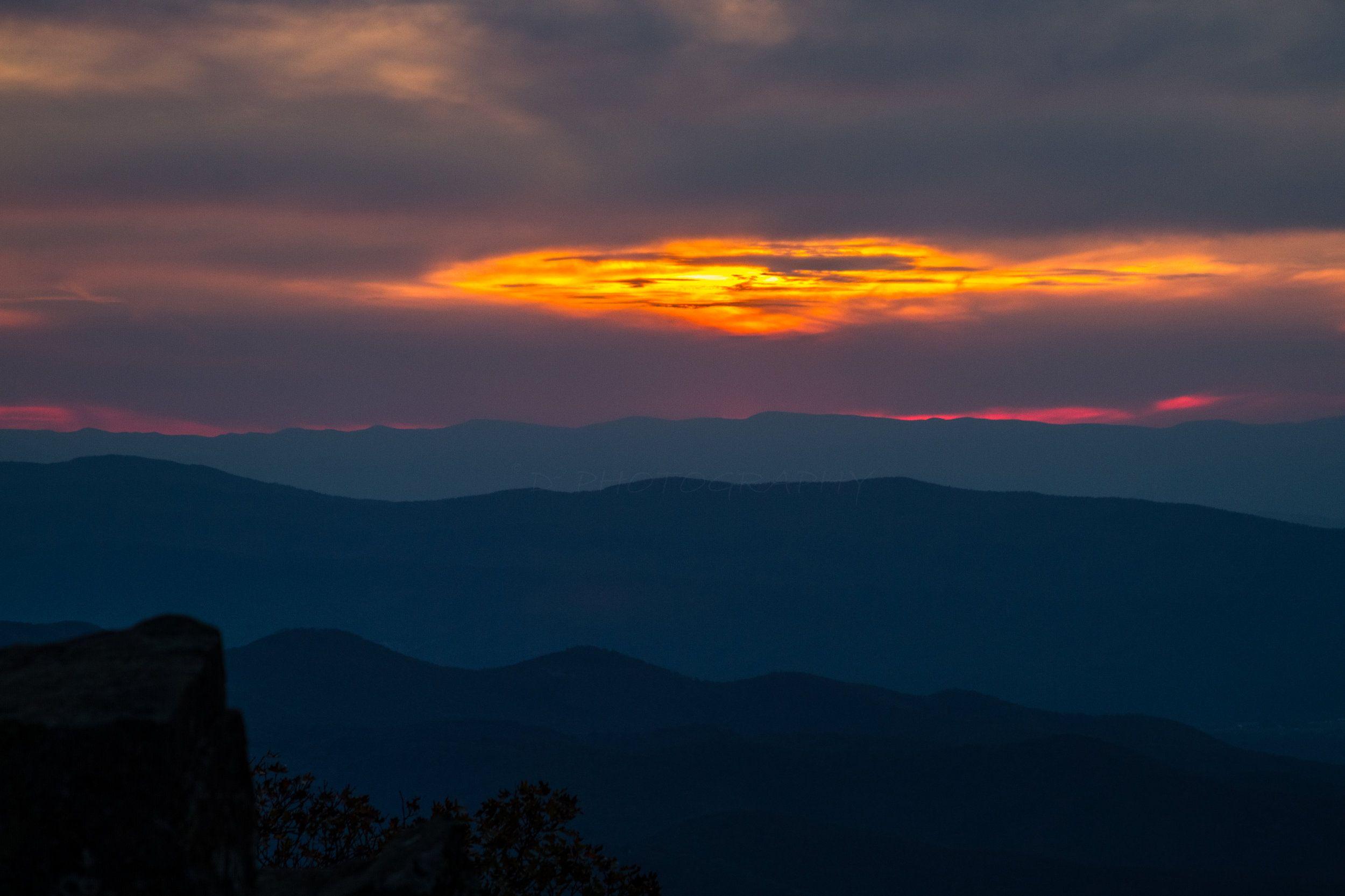 A sunset in shenandoah national park d2 photo art best