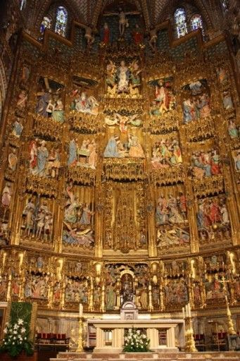 Inside the Toledo Cathedral, Spain