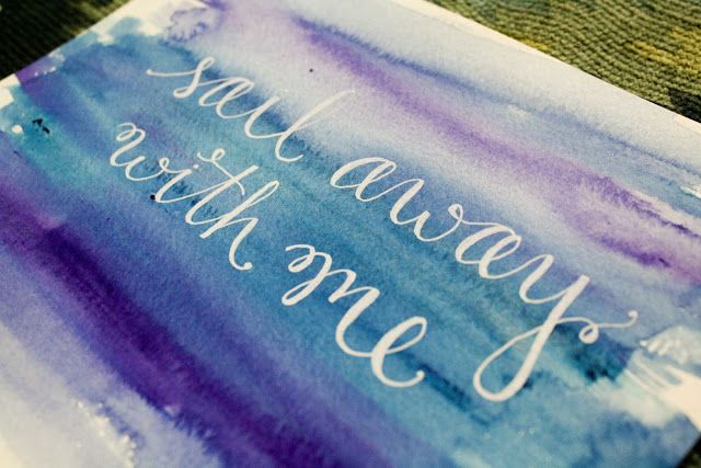Writing with Masking Fluid and covering it with a wash.