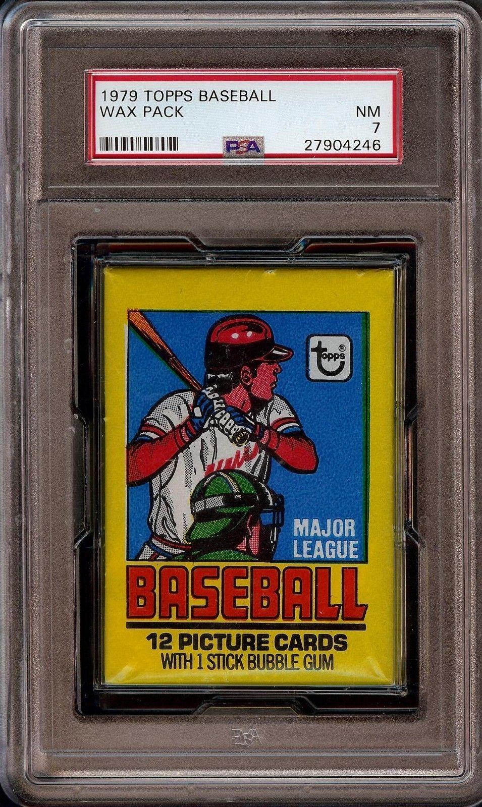 1979 topps baseball unopened wax pack grade psa 7 ozzie