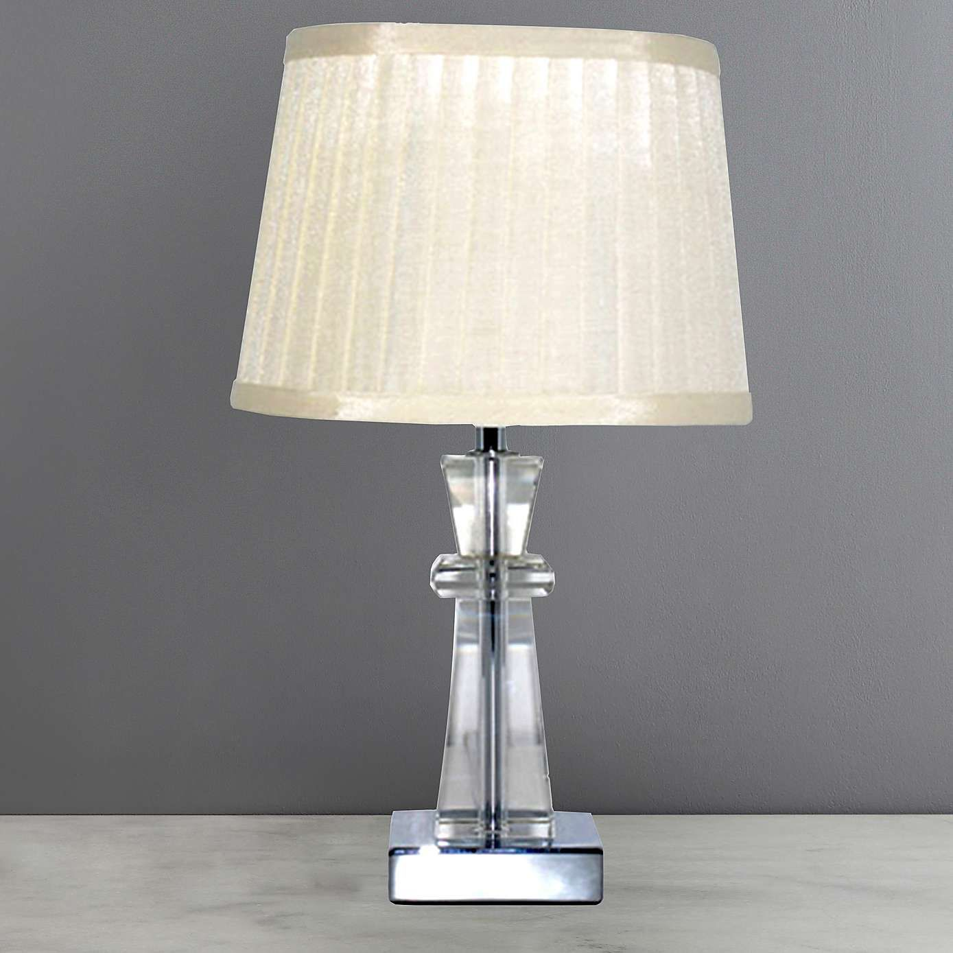 Pyramid Crystal Table Lamp Table Lamp Fabric Shades Crystals