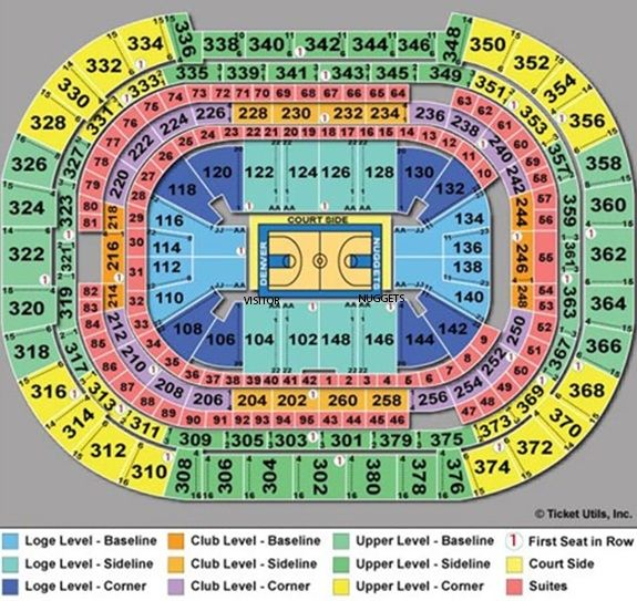 Nuggets Seating Chart Nuggets Seat Chart Pepsi Center Inside Denver Nuggets Seating Chart24176 Weekly Chore Charts Pepsi Center Chart