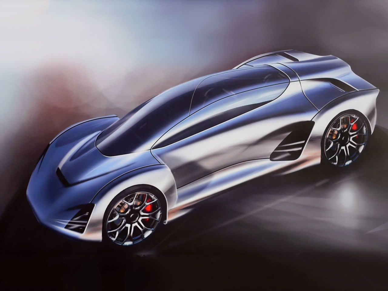 Divergent Microfactories Blade 3D printed car - Design Sketch