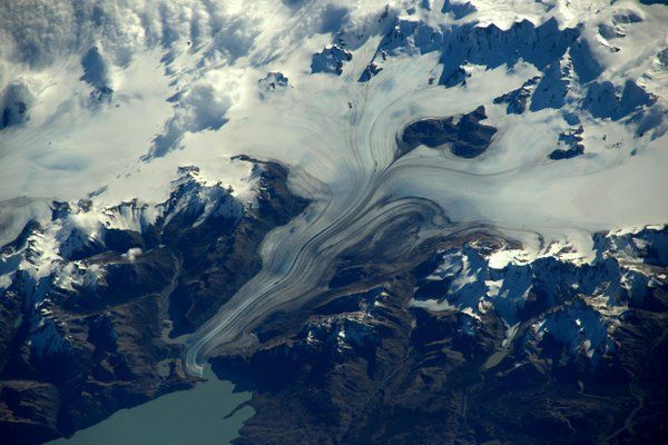 Tim Peake @astro_timpeake   One of my favourite pics so far – Patagonia's beautiful southern ice field