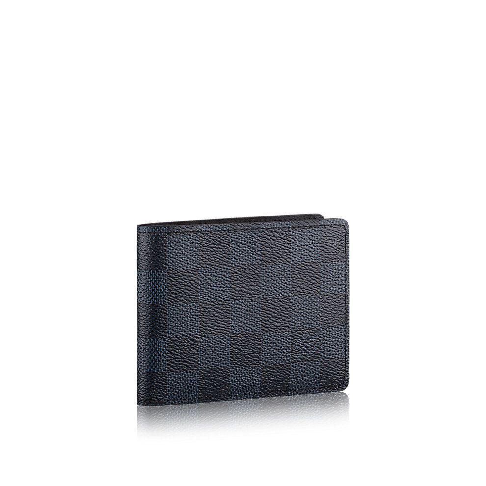 Damier cobalt canvas small leather goods wallets slender