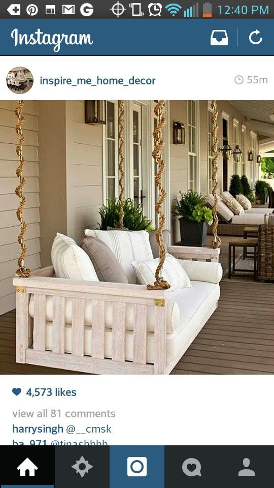 Luxurious porch swing
