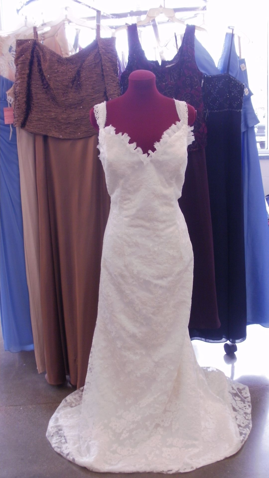 Lovely wedding dresses for less found at Goodwill...Find yours! http ...
