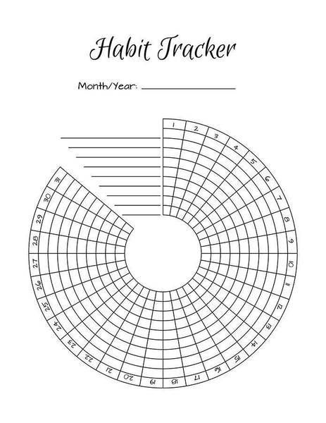 Bullet Journal Habit Trackers Printable #mentalhealthjournal