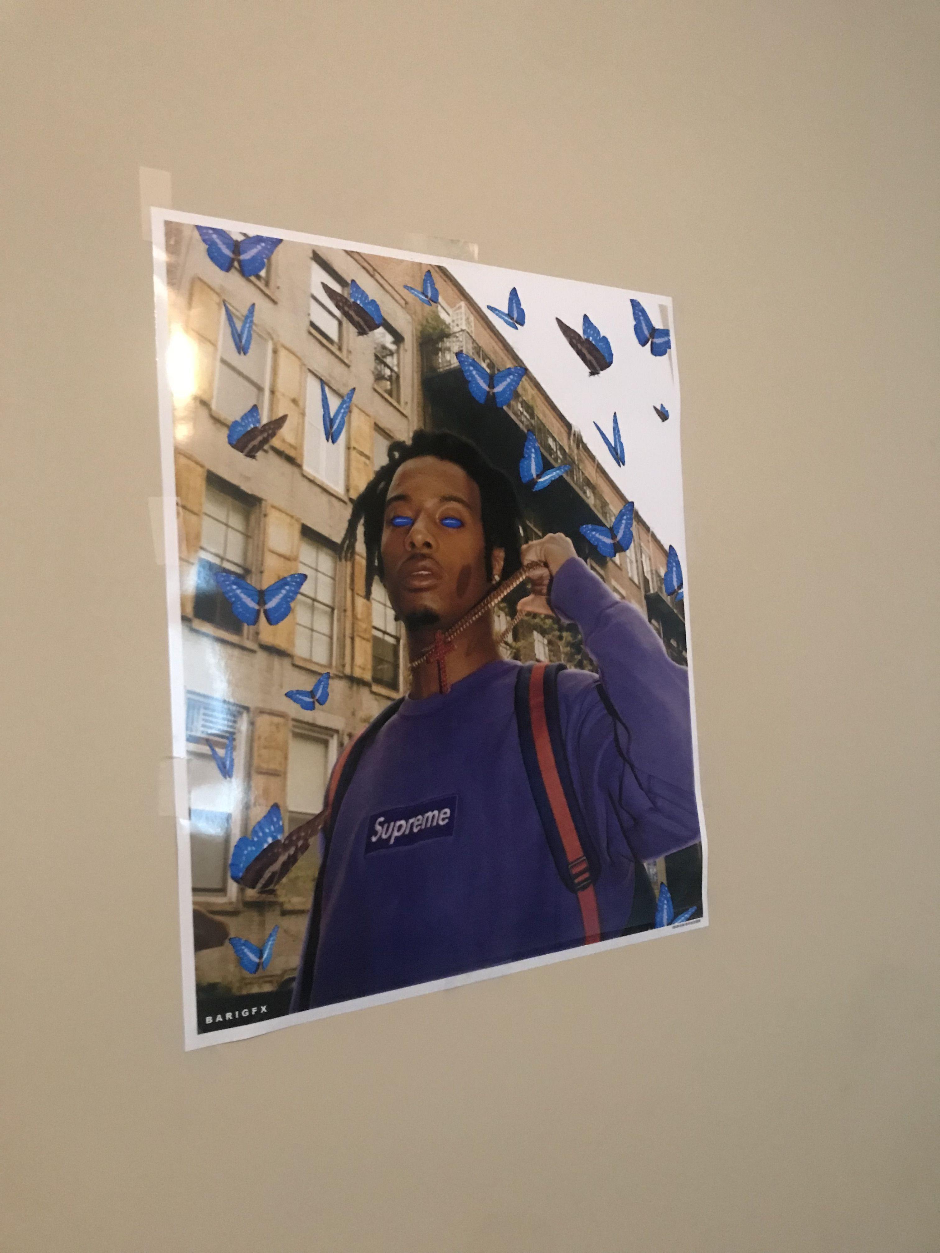 26515e9341c0 Playboi Carti Butterfly Poster by @barigfx #playboicarti #cashcarti #playboy  #butterfly #butterflies #dielit #vlone #poster #redbubble #playboi #carti  ...