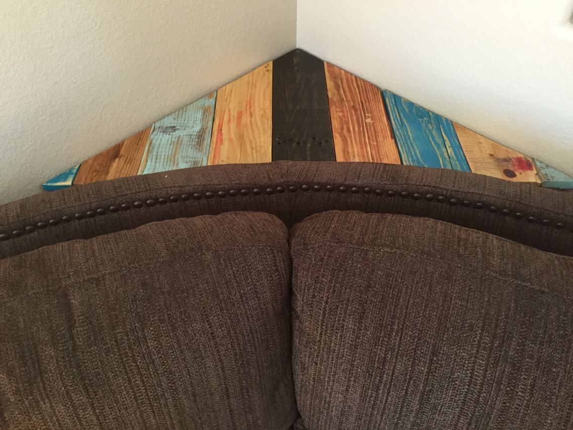 Riki S Design For That Corner Behind The Corner Section Of The Couch Corner Couch Corner Sofa Table Diy Couch