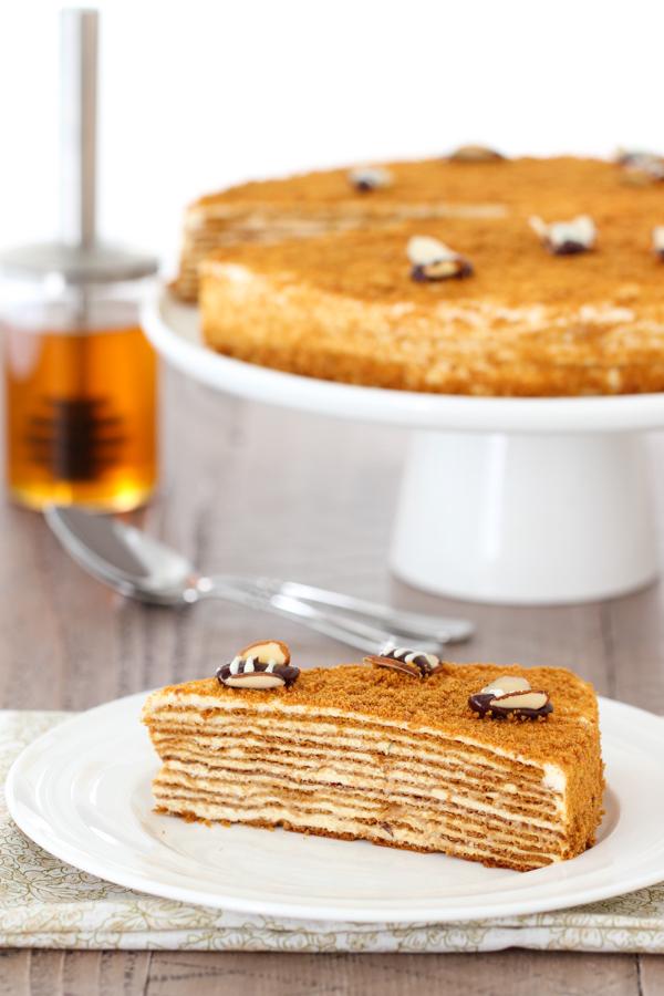 Medovik - Honey Layer Cake: Торт Медовик - Olga's Flavor Factory