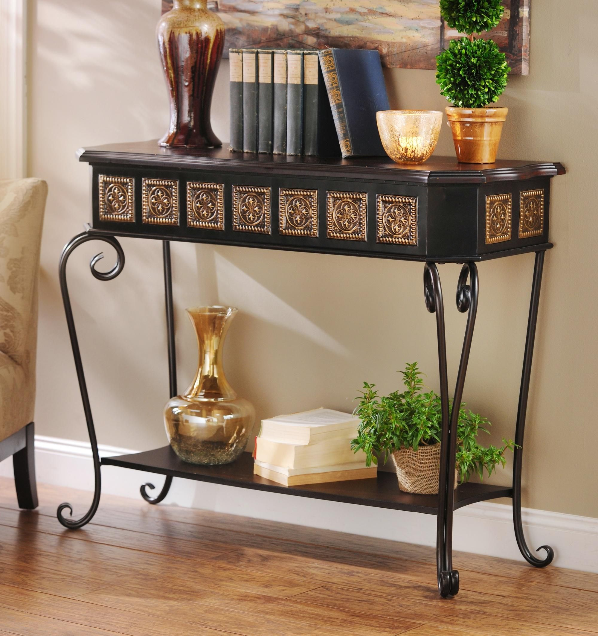 Hallway key storage  Medallion Console Table  More Console tables ideas