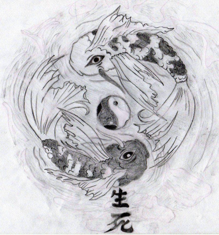 Yin Yang Koi Fish by UnbrokenShadow.deviantart.com on @deviantART ...