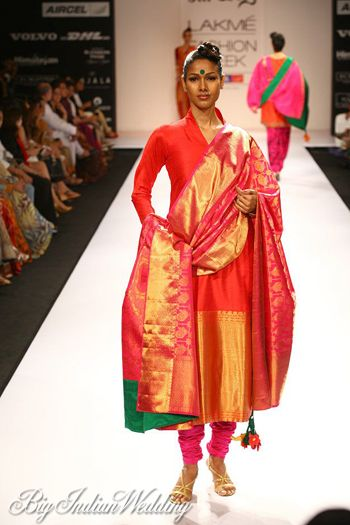 traditional indian suit made of kanjeevaram silk #indianwedding ...