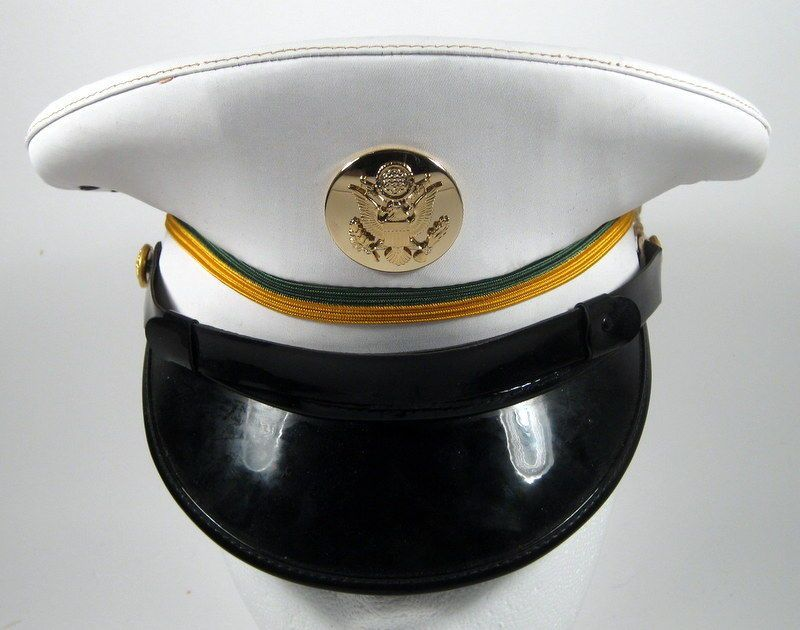 3639a966d2f US Army Military Police MP Enlisted Service Dress Whites Hat Cap 6 1 2 or 52