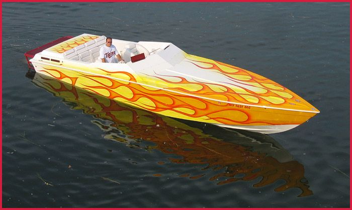 Old School Flame Paint Jobs Flaming Superboat Cassatto Airbrushing Custom Paints And Design Custom Paint Motorcycle Paint Jobs Small Pontoon Boats