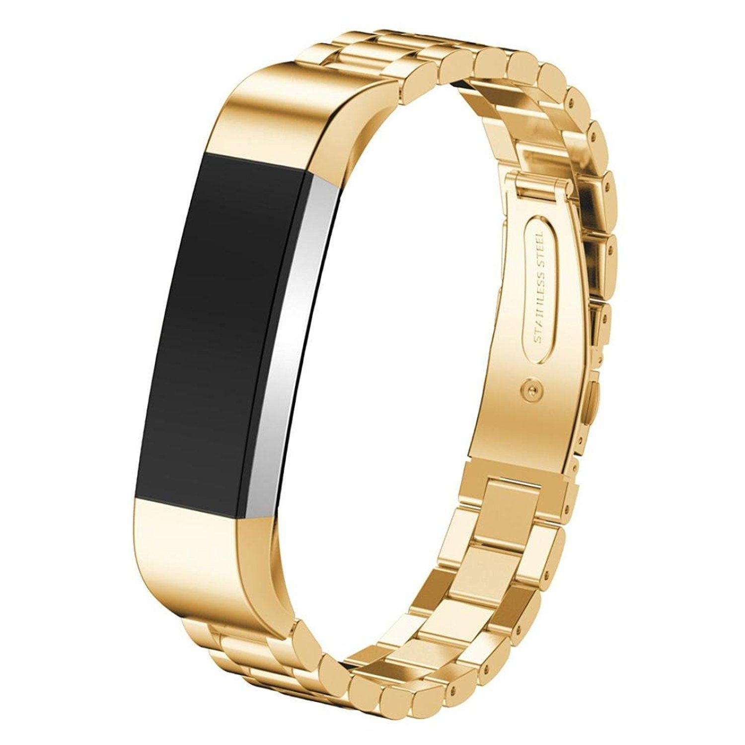 Watch Band, ABC Luxury Stainless Steel Wrist strap Watch Band for Fitbit Alta Smart Watch (Gold): Amazon.ca: Watches