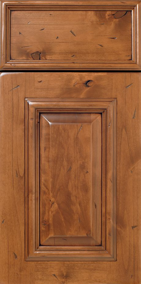 Rustic Grade Alder Wood Cabinet Doors With Applied Molding