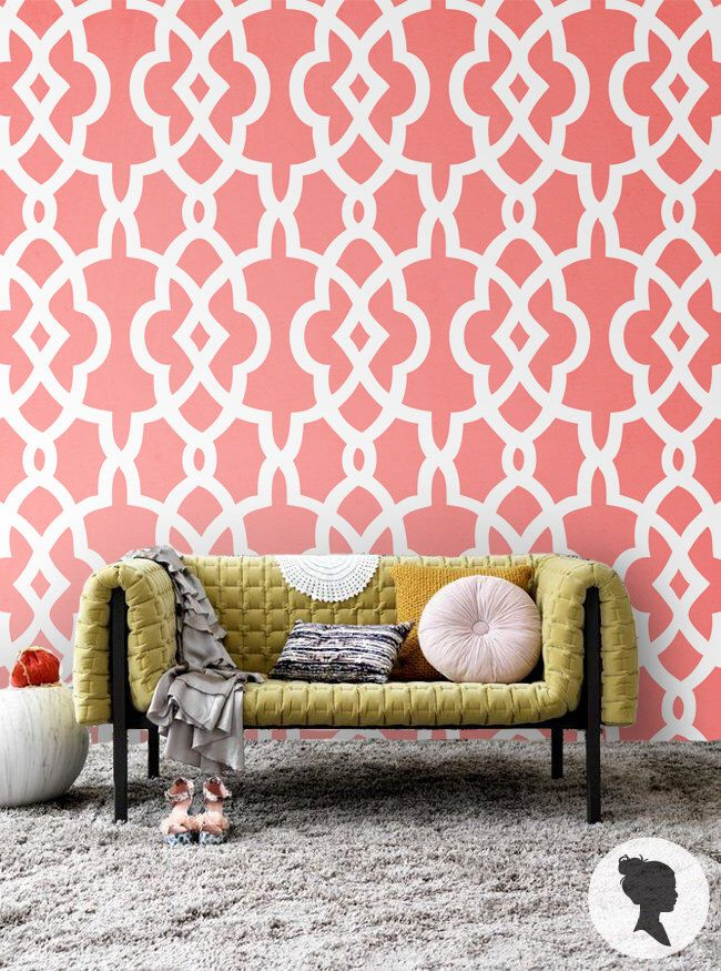 Blush Moroccan Pattern Wallpaper / Traditional or Removable ...