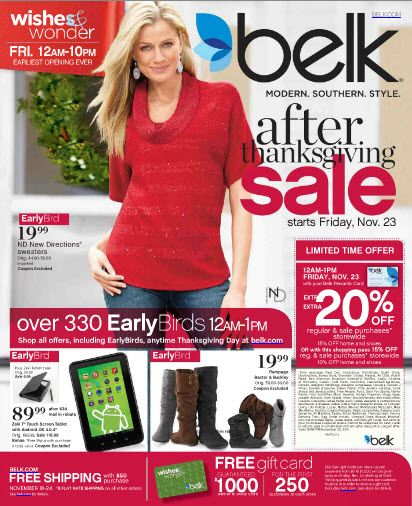 Preview Our After Thanksgiving Sale Catalog Belk Blackfriday Deals
