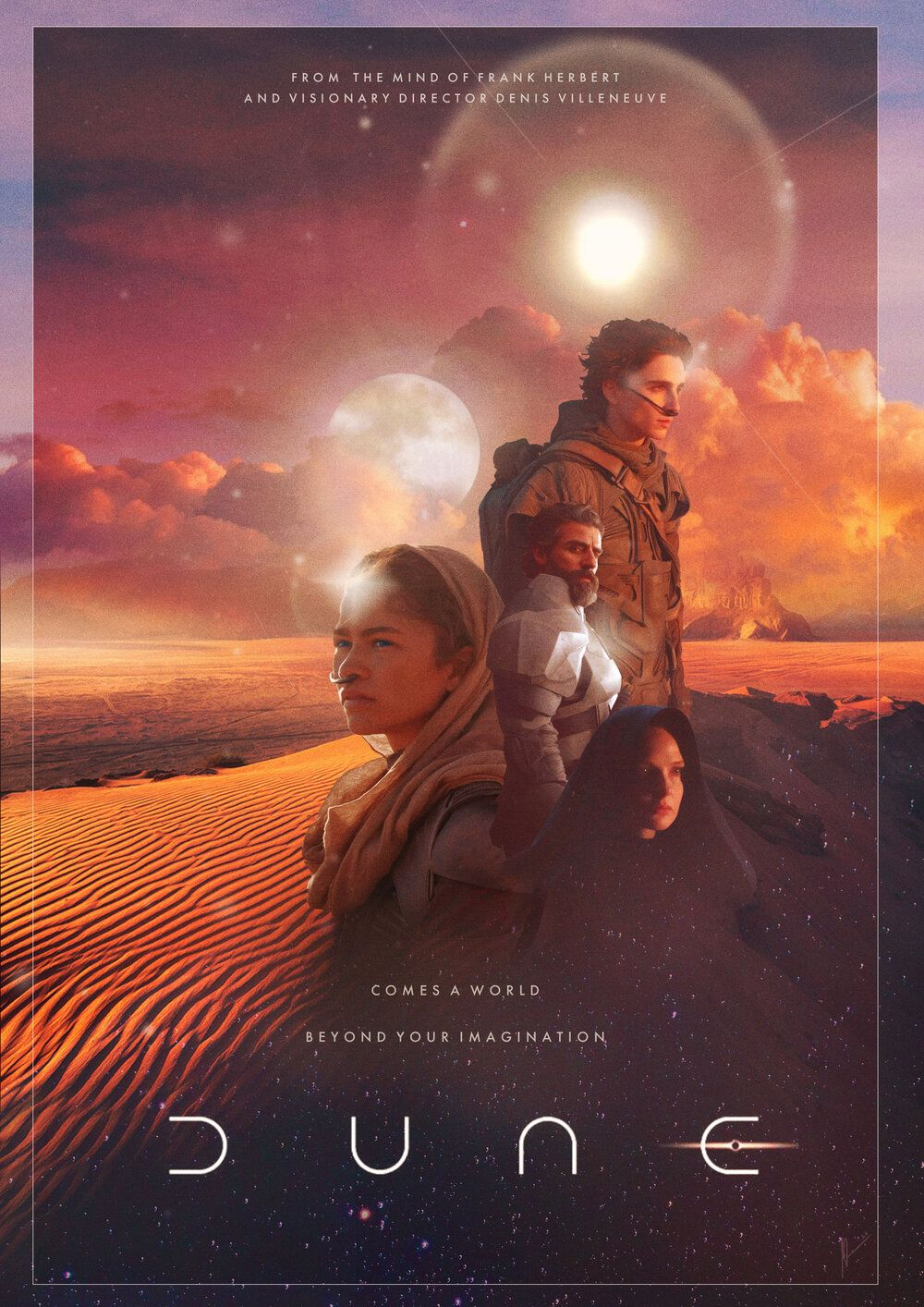 This Fan Made Dune Poster Dazzles The Eyes Nerdist Dune Dune Film Movie Posters