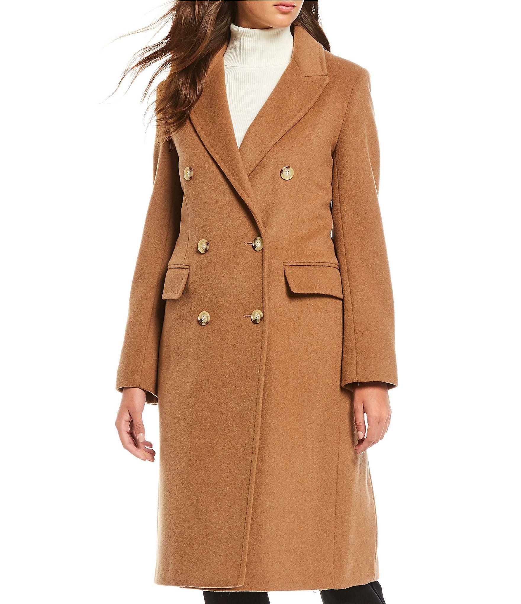 Lauren Ralph Lauren Peak Lapel Wool Blend Coat Dillards Clothes Wool Blend Coat Clothes For Women [ 2040 x 1760 Pixel ]