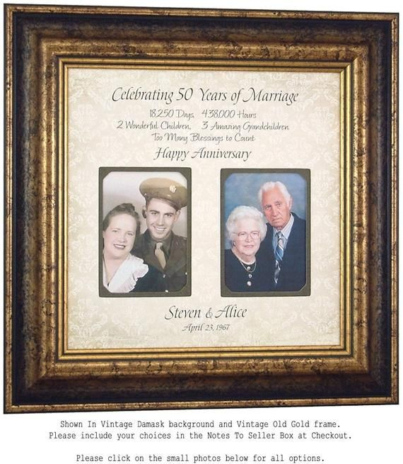 50th Anniversary Gifts for Parents, Golden Anniversary Personalized Photo Frame, 40th Wedding Anniversary Gift,