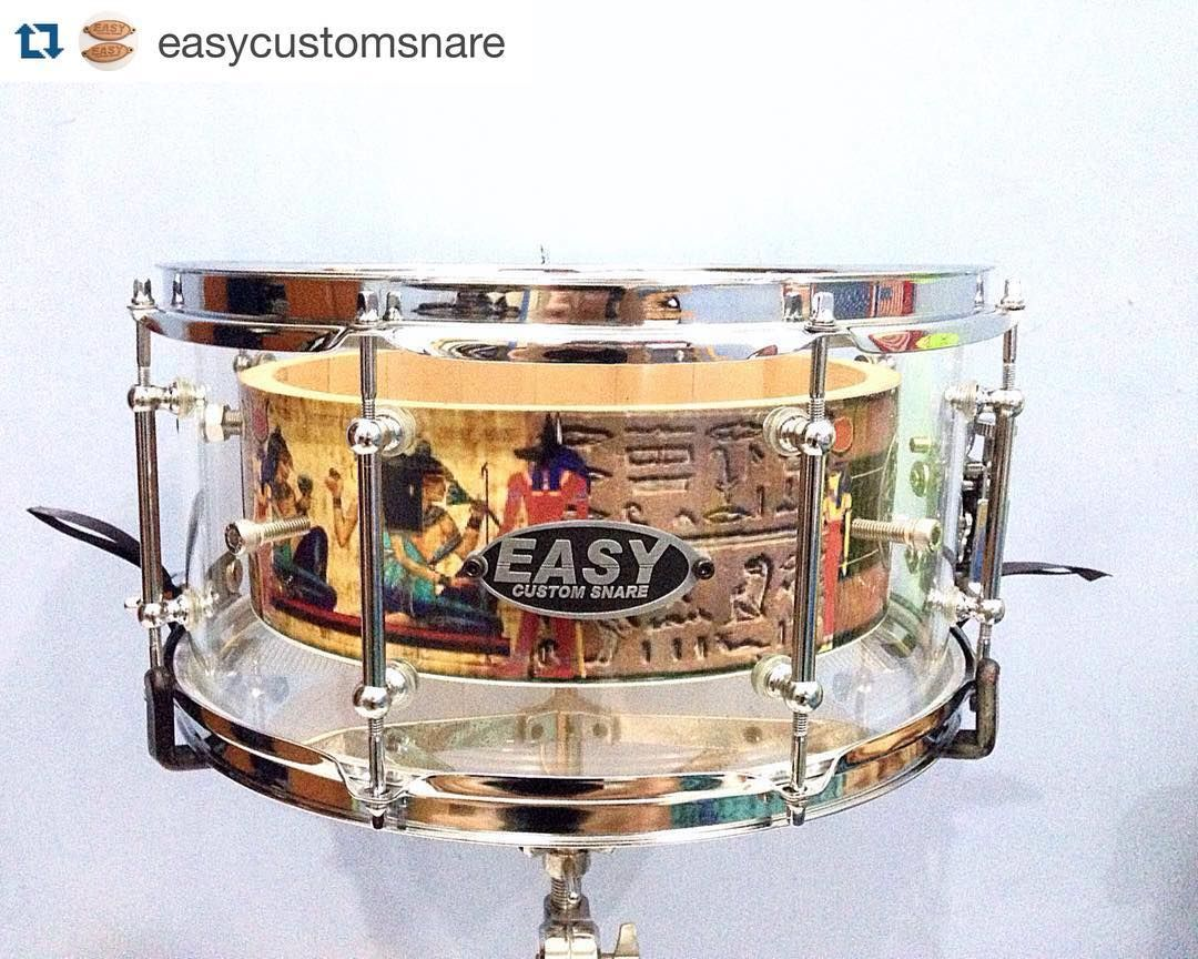 """#Repost @easycustomsnare with @repostapp.  14x7"""" double shell acrylic/maple solid stave with custom """" hieroglyph """" wrapssingle tube lugschrome hardware. #easysnare #easycustomsnare #drumdesign #acrylicdrums #indonesiandrummer #customdrums #indonesianmade #customsnare #drumporn by canidrumonthat"""