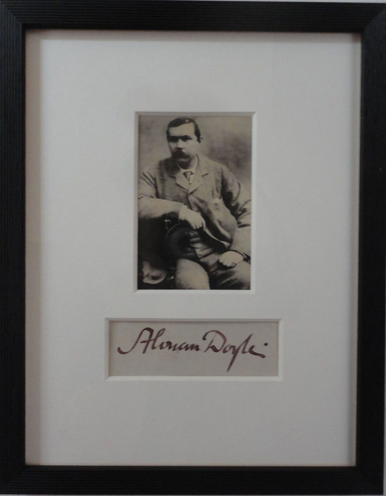 Details about Sir Arthur Conan Doyle Autograph Antique Photo Victorian Sherlock Holmes Author
