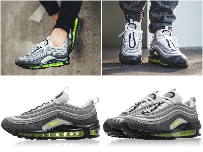 5df957b2da2587 2017 Fall Winter New NIKE WMNS Air Max 97 Neon Dark Grey Volt Stealth Pure  Platinum 921733-003