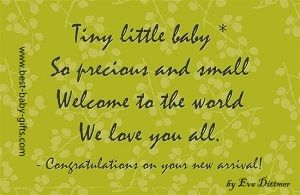 new baby poems - website with lots of newborn poems to use ...