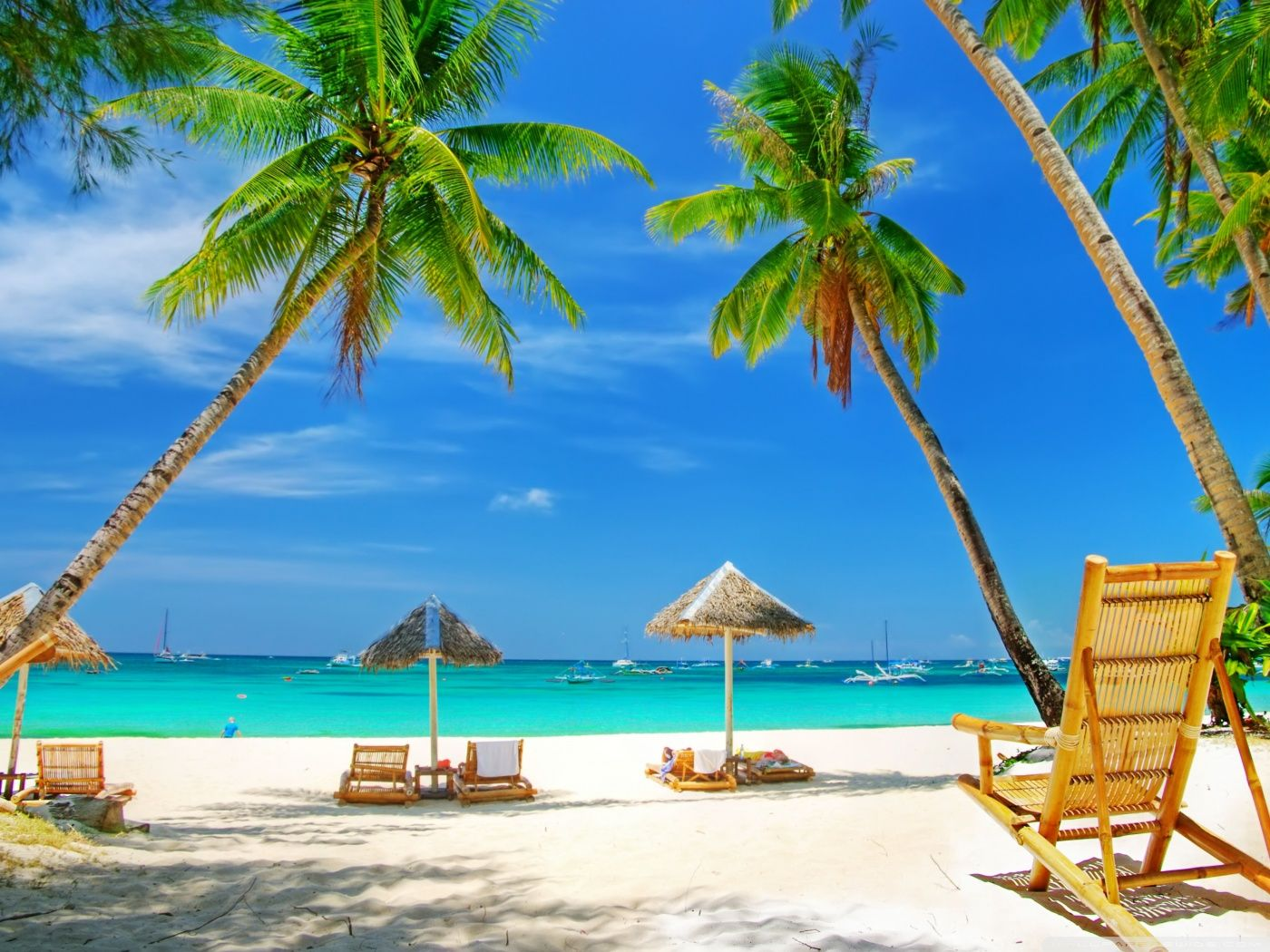 Beach Paradise Wallpaper Hd Background Wallpaper