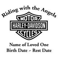 In Loving Memory Motorcycle Chopper Decal Sticker Harley Davidson Decals Harley Davidson Motorcycles Classic Harley Davidson