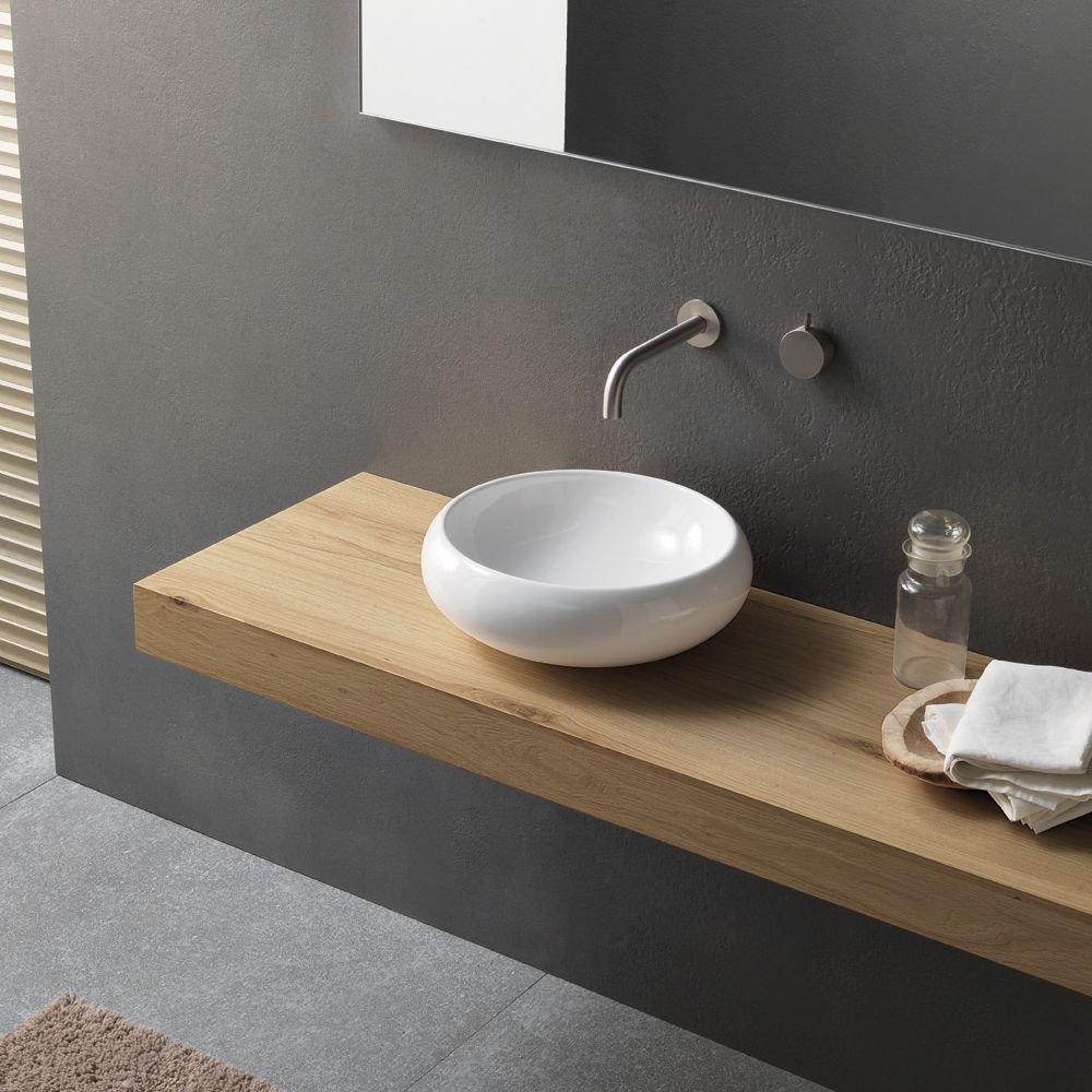 lavabo design moderno da appoggio tondo in ceramica novello novello arredo bagno pinterest. Black Bedroom Furniture Sets. Home Design Ideas