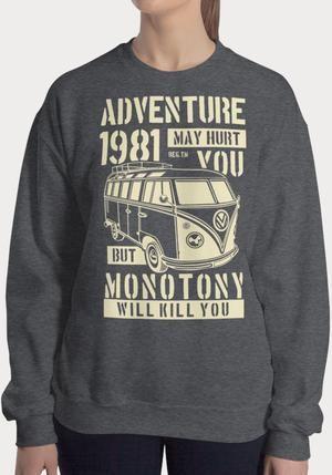 Sweat-shirt Combi Adventure 1981 pour femme   – Collection Femme
