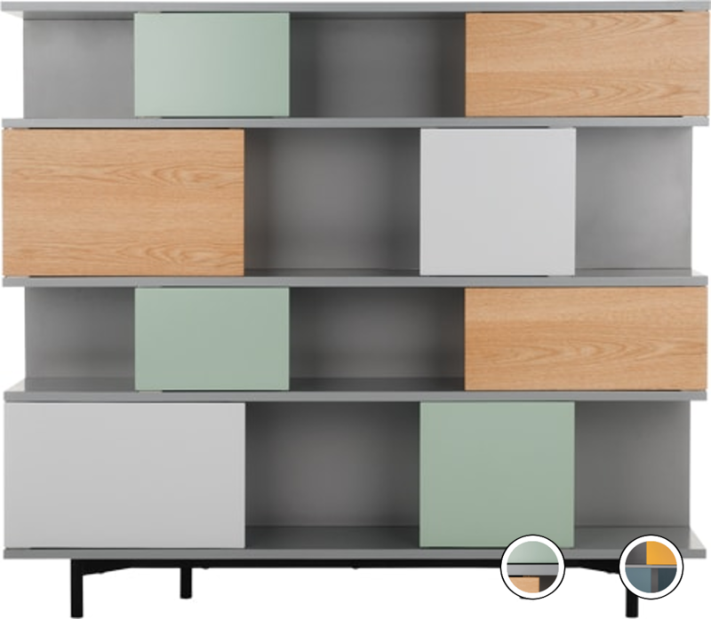 Storage Express Home: Fowler Large Shelving Unit, Multicolour Oak In 2020
