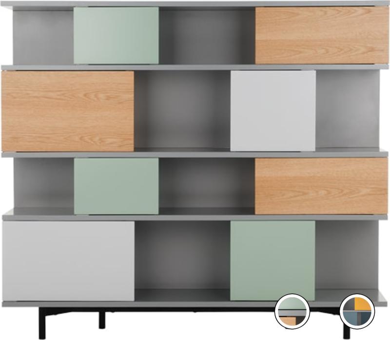 Fowler Large Shelving Unit, Multicolour Oak in 2020
