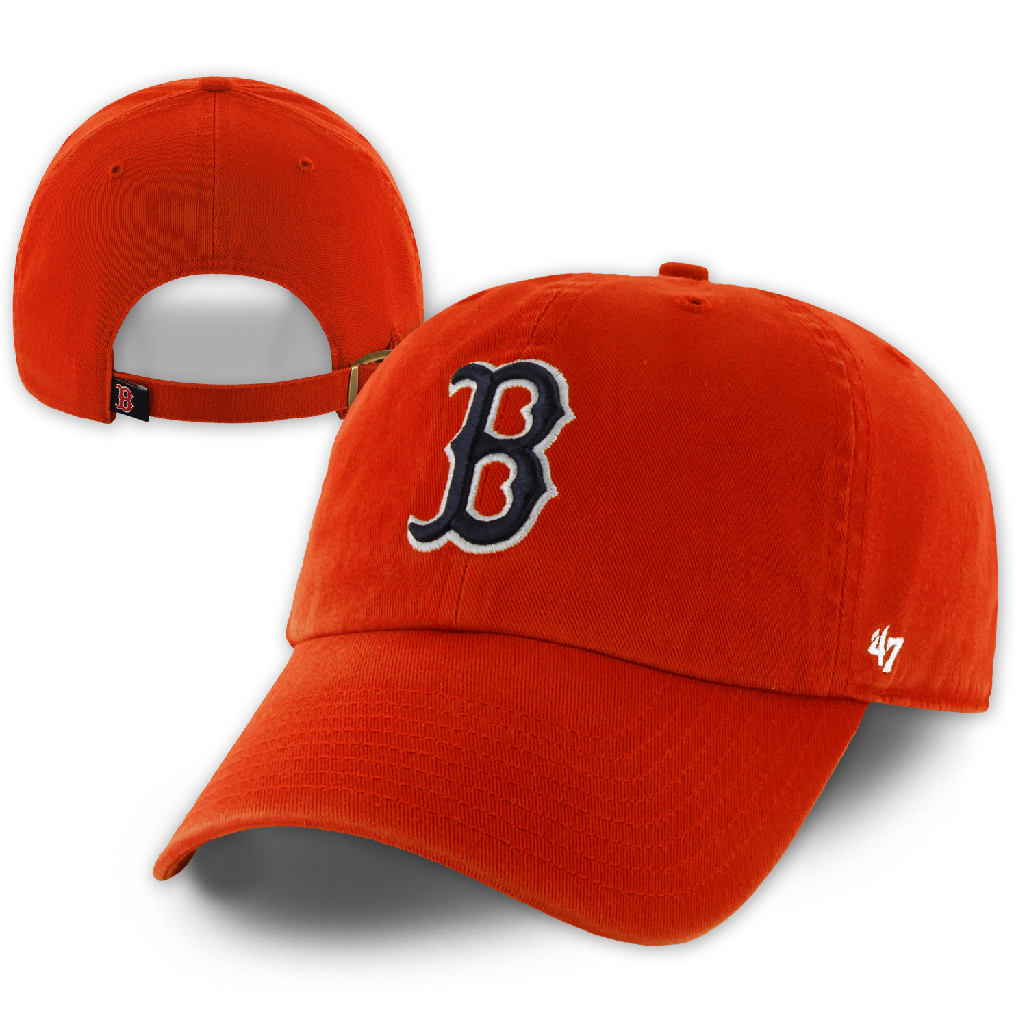 47 Clean Up Orange Fitted Hats Clean Up Ball Cap