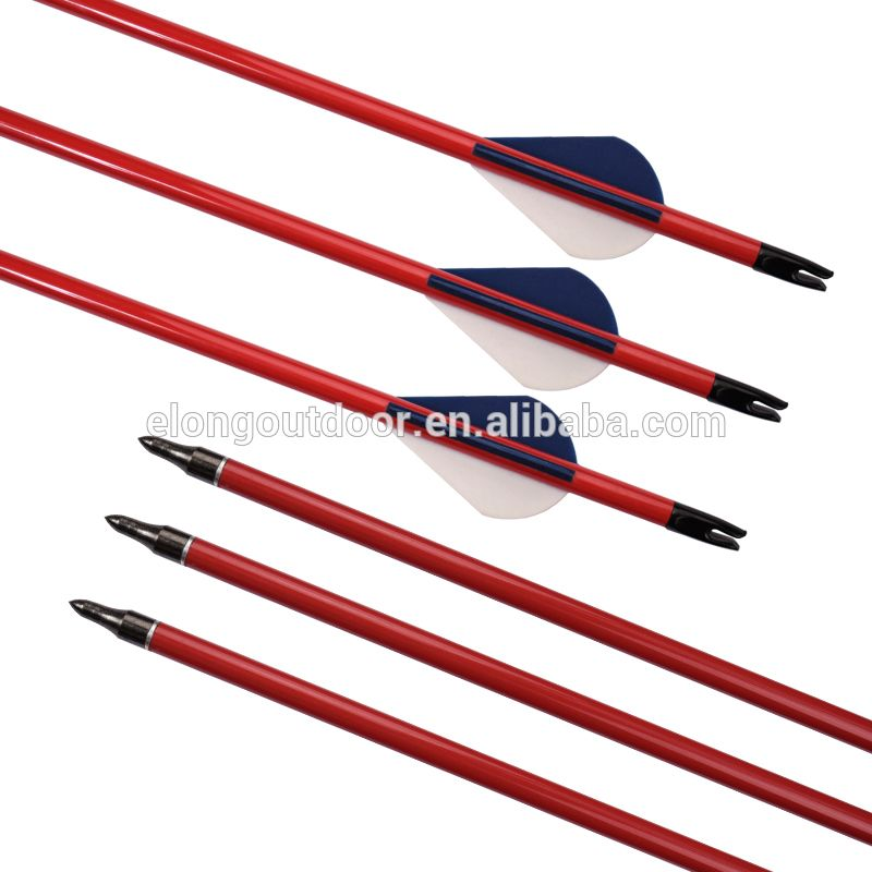SP400 Red Color Carbon Arrow Tube With Fletching&Points For Outdoor