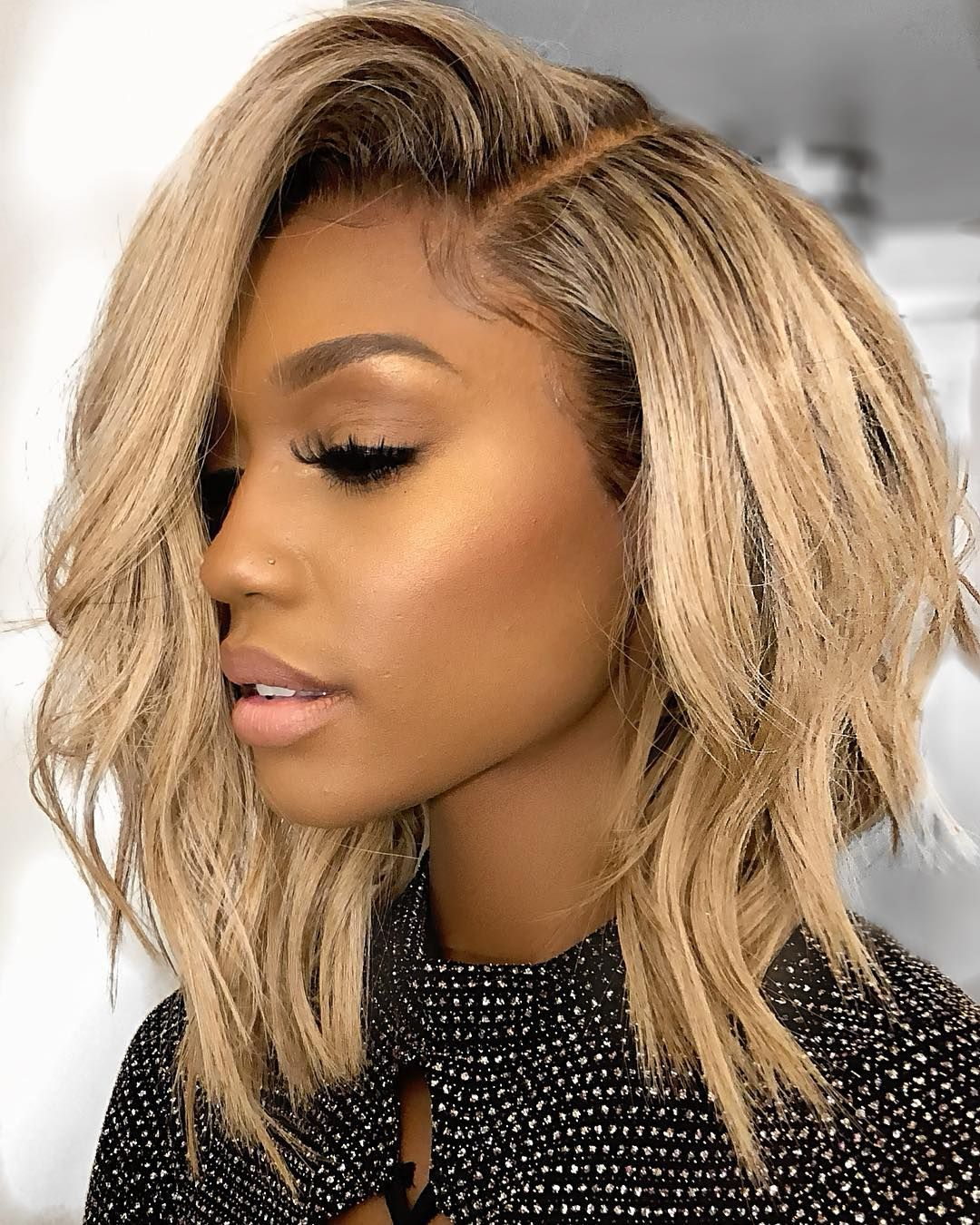 Shoulder length wigs for black women lace front wigs omber brown wigs  blonde wigs african american wigs human hair wigs ab0590f009
