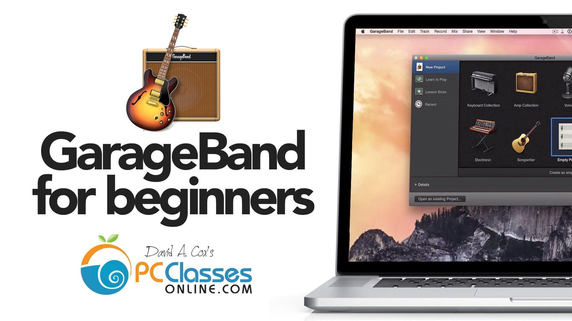 New to Garageband for Beginners Garage band, Beginners, Band