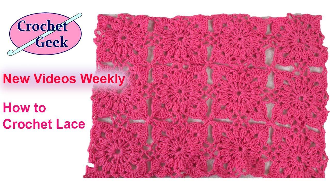 How to #Crochet Irish #Lace Motif - Ice Yarns   doily crochet ...