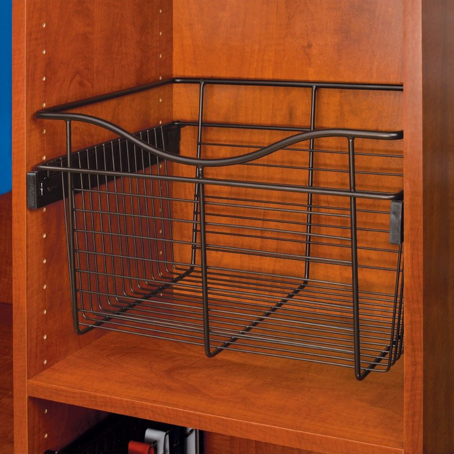 """Rev-A-Shelf Pullout Wire Basket 24"""" W X 14"""" D X 7"""" H CB-241407ORB    36% OFF Order Today! Shop and Save @ CabinetParts.com"""