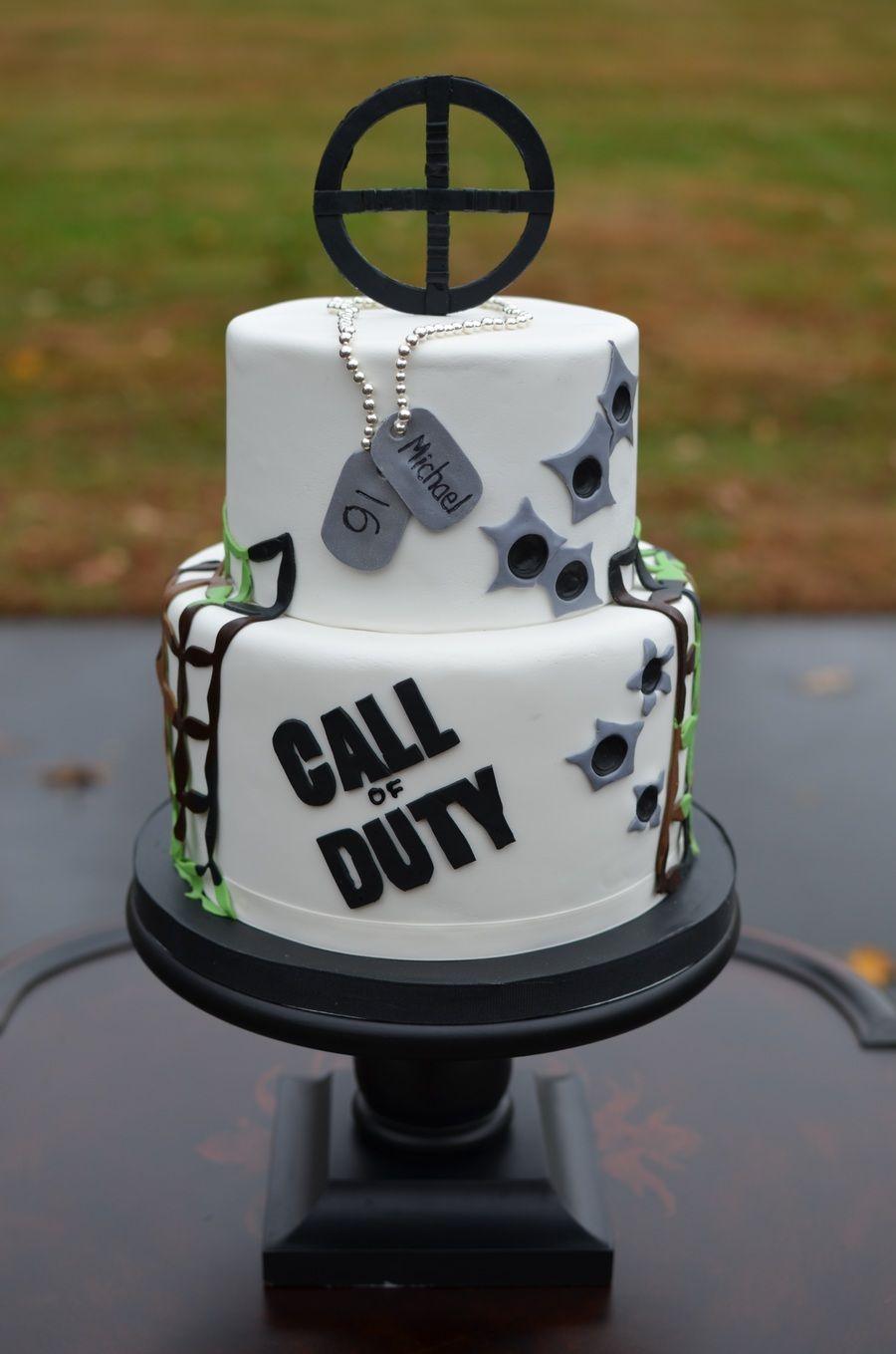 Call Of Duty Birthday Cake cakescupcakes Pinterest Birthday