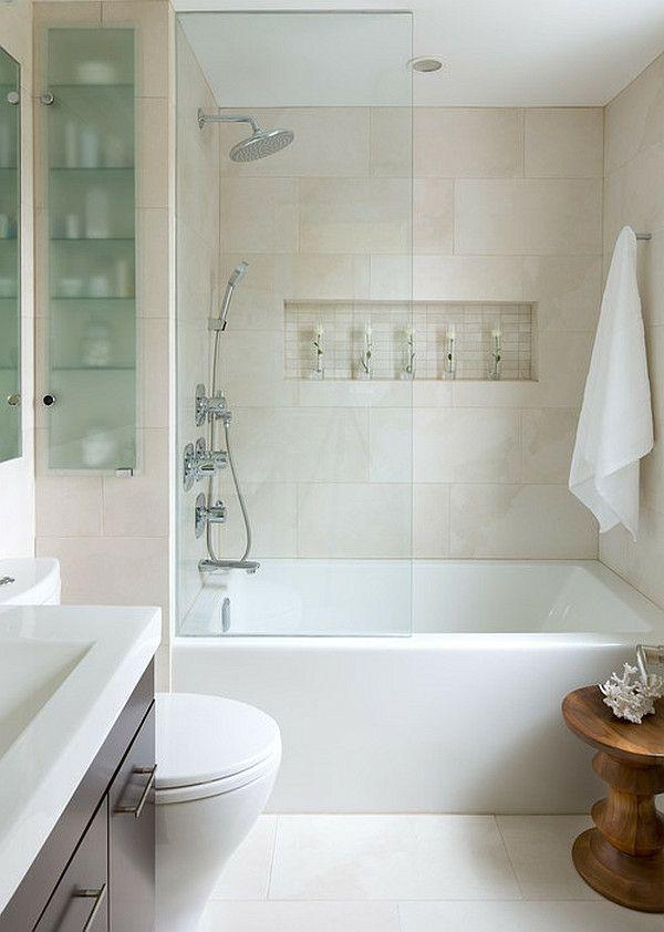 Badideen Kleines Bad In Weiß Einrichten Inspirierende Ideen ... Einrichtung Badezimmer Klein